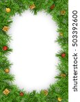 christmas fir tree  on a white... | Shutterstock . vector #503392600