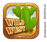 cartoon app icon with wild west ...