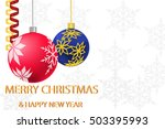 christmas and new year... | Shutterstock . vector #503395993