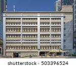 a typical parking garage in... | Shutterstock . vector #503396524