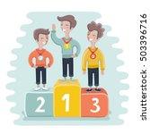 vector cartoon illustration of... | Shutterstock .eps vector #503396716