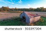 An Old Abandoned Barn On The...