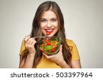 face portrait of young happy... | Shutterstock . vector #503397964