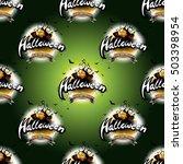happy halloween seamless... | Shutterstock . vector #503398954