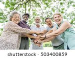 group of senior retirement... | Shutterstock . vector #503400859