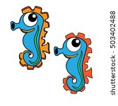 sea seahorse icon cartoon... | Shutterstock .eps vector #503402488