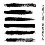 vector brush stroke.hand drawn... | Shutterstock .eps vector #503402839