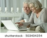 senior couple  with laptop | Shutterstock . vector #503404354