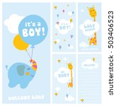 it's a boy  baby shower and... | Shutterstock .eps vector #503406523