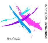 vector set of watercolor brush... | Shutterstock .eps vector #503410270