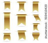 gold color hanging curved...   Shutterstock .eps vector #503410420
