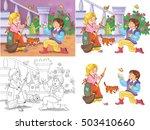 fairy tale. cinderella. small... | Shutterstock . vector #503410660