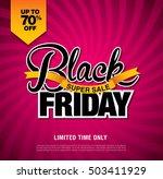 black friday sale banner.... | Shutterstock .eps vector #503411929