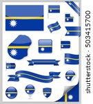 nauru flag set   vector... | Shutterstock .eps vector #503415700