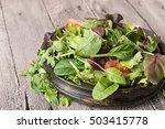 fresh green salad mix. fresh... | Shutterstock . vector #503415778
