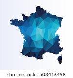 polygonal map of france | Shutterstock .eps vector #503416498