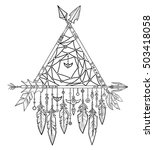 decorative triangle from arrows.... | Shutterstock .eps vector #503418058