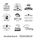 bakery products and pastry... | Shutterstock .eps vector #503418424
