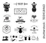 set of vintage tailor labels ... | Shutterstock .eps vector #503418463