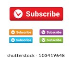subscribe button. colorful...   Shutterstock .eps vector #503419648