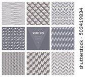 set of 8 popular geometric... | Shutterstock .eps vector #503419834
