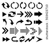 arrow vector 3d button icon set ... | Shutterstock .eps vector #503423710