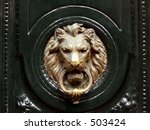 Lionhead Knocker Door
