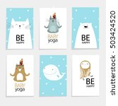 vector set with cartoon animals ... | Shutterstock .eps vector #503424520