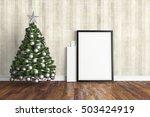 beautiful christmas interior .... | Shutterstock . vector #503424919