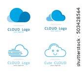 cloud  fast cute logo icon... | Shutterstock .eps vector #503428564