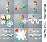set with infographics. data and ... | Shutterstock .eps vector #503433400