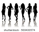 illustration of fashion female... | Shutterstock .eps vector #503433574