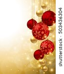 christmas ornaments | Shutterstock .eps vector #503436304