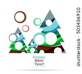 abstract geometric christmas... | Shutterstock .eps vector #503436910