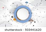modern cloud technology.... | Shutterstock .eps vector #503441620