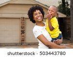 happy african american family.... | Shutterstock . vector #503443780