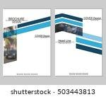 vector brochure cover templates ... | Shutterstock .eps vector #503443813