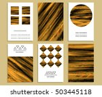 trend set of bright flyers. the ... | Shutterstock .eps vector #503445118