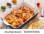 stuffed chicken breast with... | Shutterstock . vector #503445406