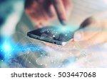 social network concept. | Shutterstock . vector #503447068
