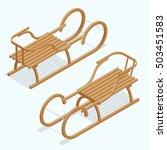kid's sleigh  isometric vector... | Shutterstock .eps vector #503451583