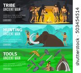 stone age extinct extinction... | Shutterstock .eps vector #503454514