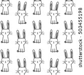 cute rabbit face. | Shutterstock .eps vector #503455198