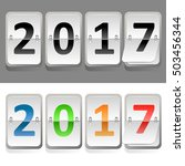 happy new 2017 year greeting... | Shutterstock .eps vector #503456344