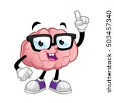 brain cartoon character  he... | Shutterstock .eps vector #503457340