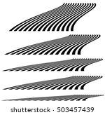 lines in 3d perspective.... | Shutterstock . vector #503457439