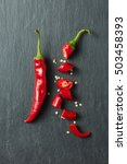 red chili peppers | Shutterstock . vector #503458393