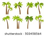 Stock vector palm trees isolated on white background beautiful vectro palma tree set vector illustration 503458564