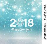 happy new year 2018  vector... | Shutterstock .eps vector #503459956