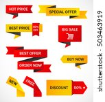 vector stickers  price tag ... | Shutterstock .eps vector #503463919